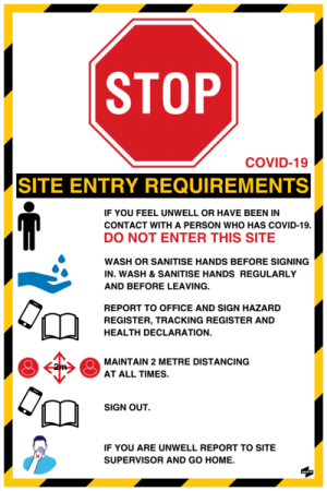 Covid-19 Site Entry Requirements