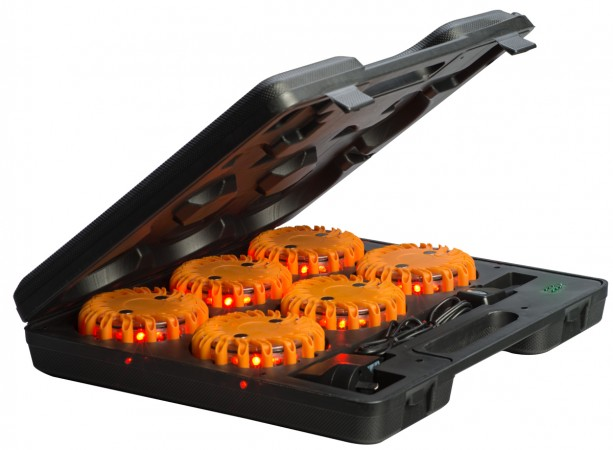 1 Set: LED Rechargeable Amber Marker Light (6 pack)